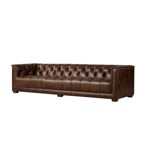 Muscota 6-foot Black or Brown Leather Sofa - 6ft | Sherry\'s house ...