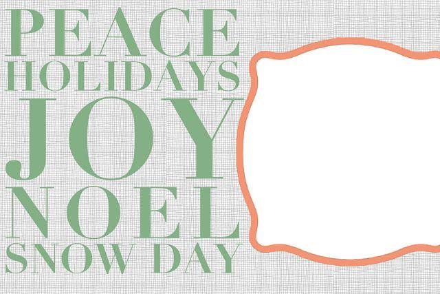 Free Christmas Card Templates!