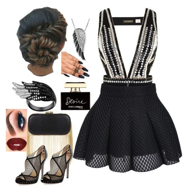 """""""Untitled #89"""" by anaflores7822 ❤ liked on Polyvore featuring sass & bide, Jewel Exclusive, Dolce&Gabbana, BCBGMAXAZRIA and Jimmy Choo"""