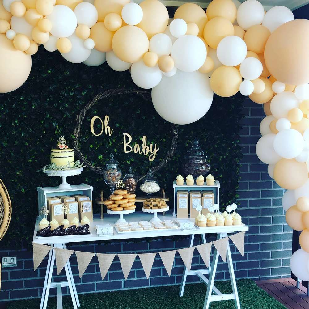 314a87f03c4 Take a look at the gorgeous Boho Chic Baby Shower! Love the dessert ...