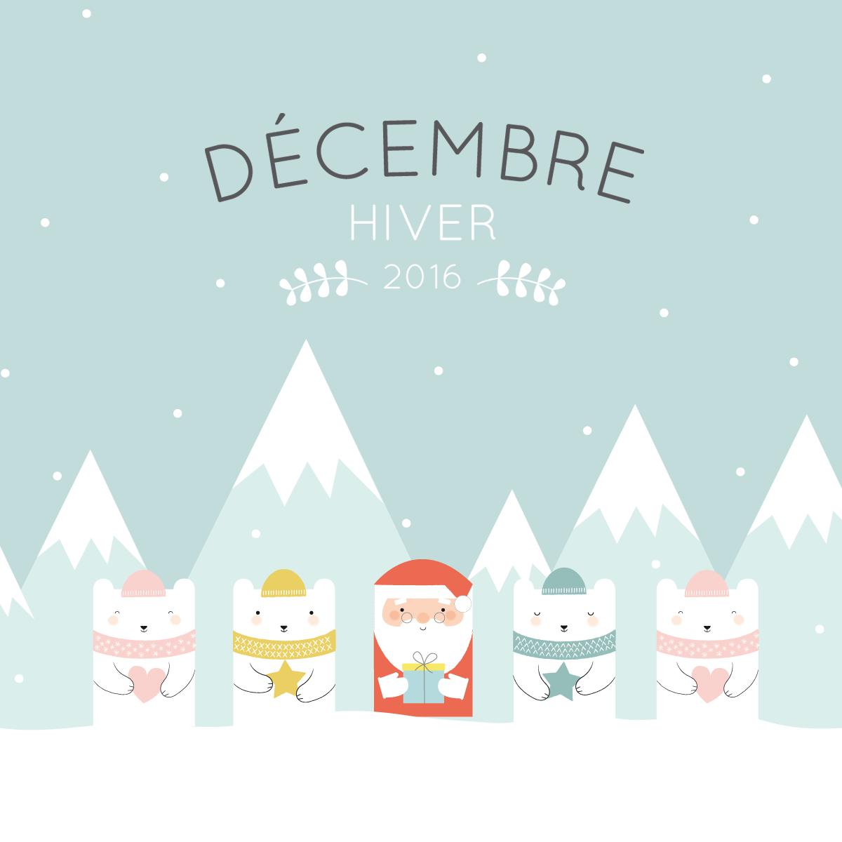 Free Printable Cute Calendar December 2016 Random