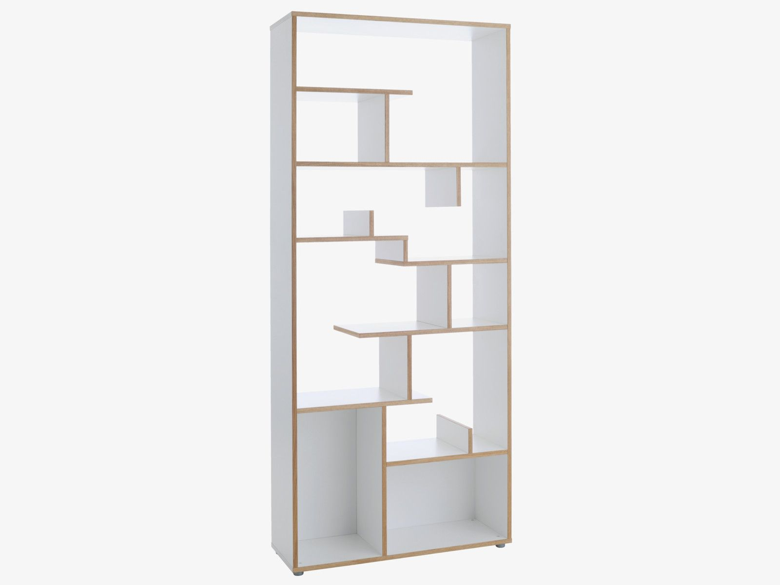 Ludo Tall White Oak Shelving Unit
