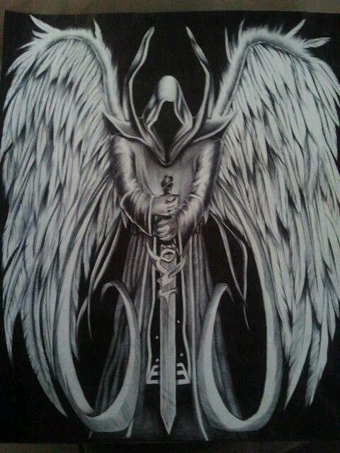 Angel De La Muerte Disenos De Tatuaje De Angel Tatuaje Angel Guerrero Y Arte Sobre La Muerte