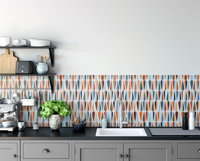 Mid Century Peel And Stick Wallpaper