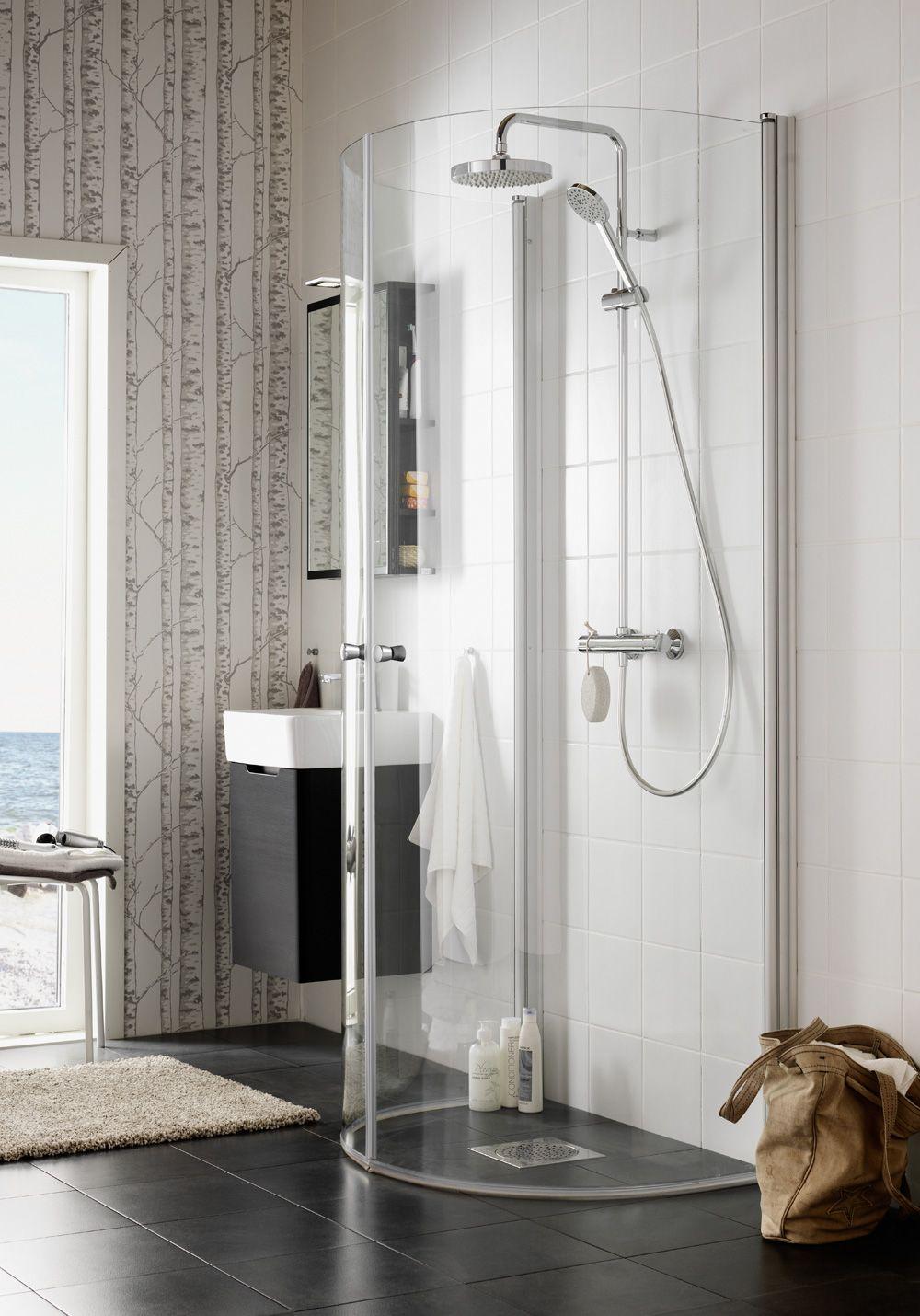 Hafa Igloo Wall Duschhörn. Igloo Wall passar dig som har speciella krav på placering och funktion, eftersom duschen kan monteras på flera olika sätt. Igloo Wall är en elegant duschhörna som kan placeras i ett hörn eller direkt på vägg. Perfekt för det lilla badrummet då bägge dörrar är fullt svängbara och tar därmed minimalt med plats när duschen inte används.