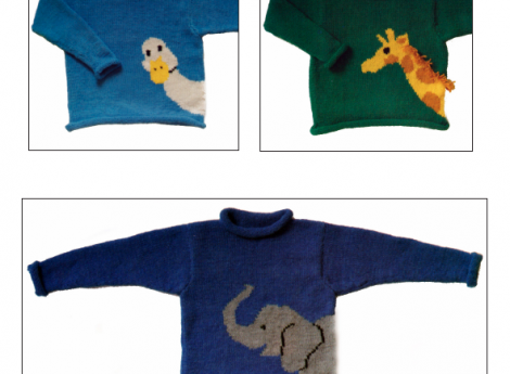 ANIMAL PULLOVERS... wonder if i can get these in adult sizes?? Nicky Epstein $ 9