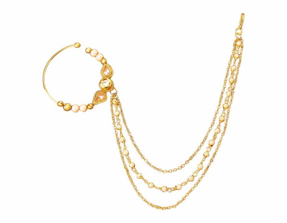 Bridal Nose Ring Png Bridal Nose Ring Nose Ring Online Gold Bridal Necklace