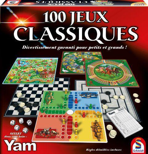 Schmidt – 88207 – Malette de Jeu – 100 Jeux Classiques: Description du produit: 100 Jeux classiques ,Coffret complet de 100 jeux - règles…