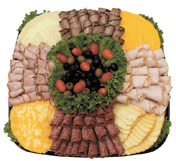 Party Food Cheese Fruit Deli Trays Enjoy The Freshness Of