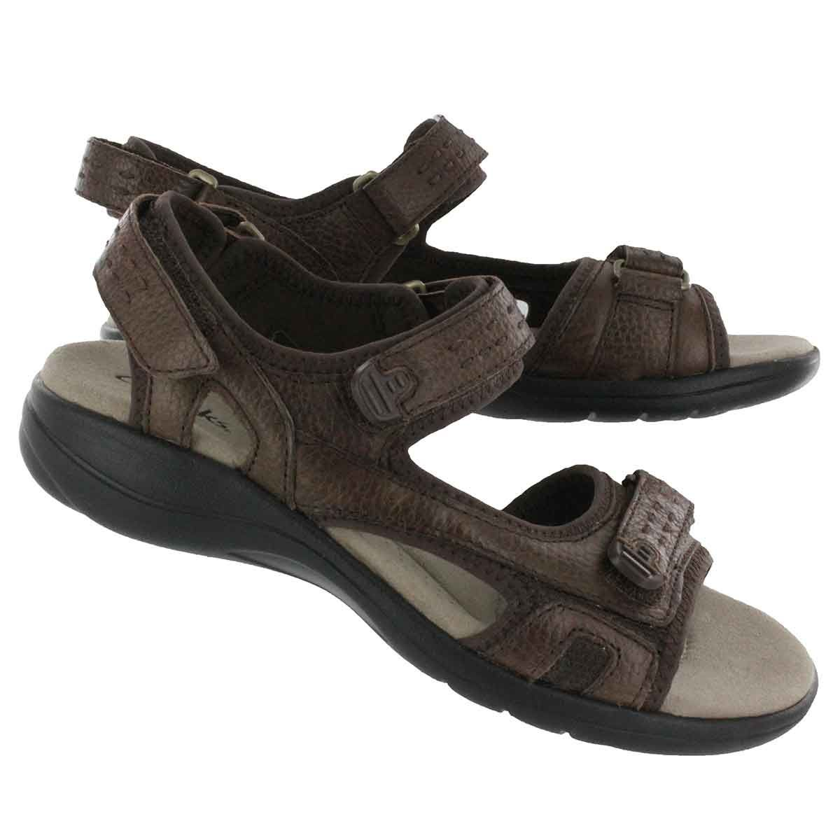 6cbd80ebd26 Clarks Women s MORSE TOUR brown 2 strap sport sandals 65579