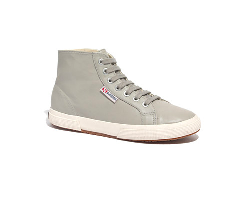 love a good high top sneak. Superga® x Madewell 2095 High-Top Leather  Sneakers - sneakers - Women's SHOES & SANDALS - Madewell