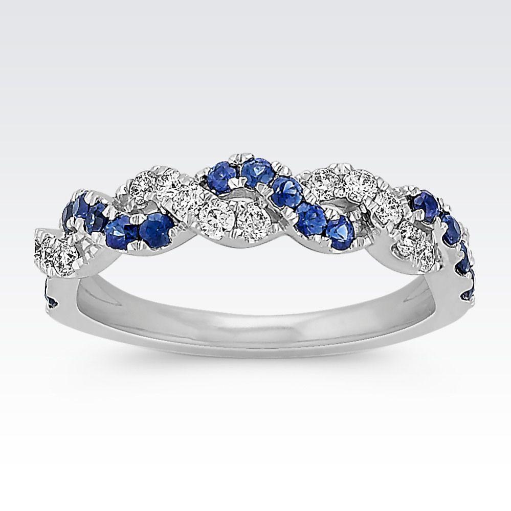 Round traditional sapphire u diamond braided ring fabulous