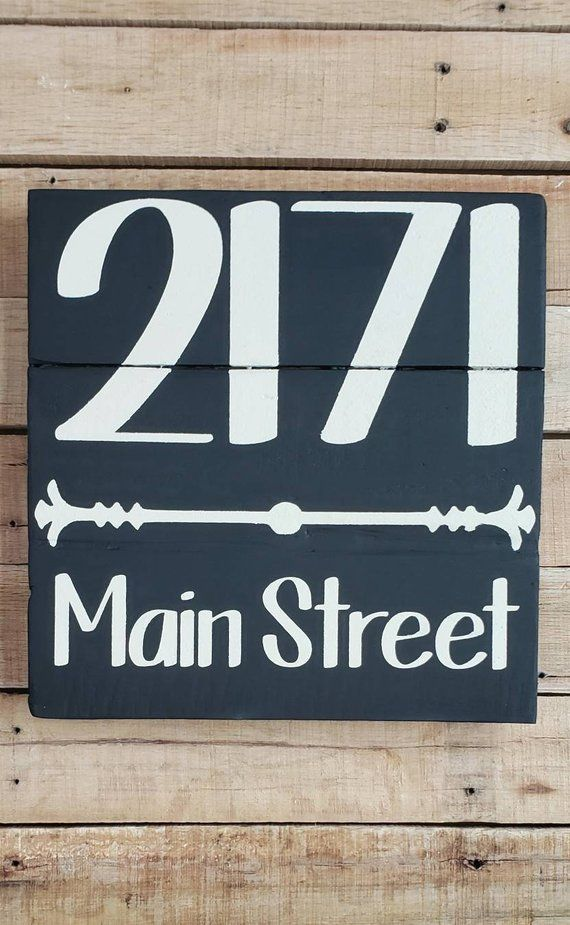 Street Name House Numbers Sign STREET ADDRESS SIGN Porch Decor Housewarming,Home Address Farmhouse Rustic Painted Wood Address Plaque