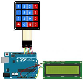 how to set up a keypad on an arduino i2c lcd output. Black Bedroom Furniture Sets. Home Design Ideas