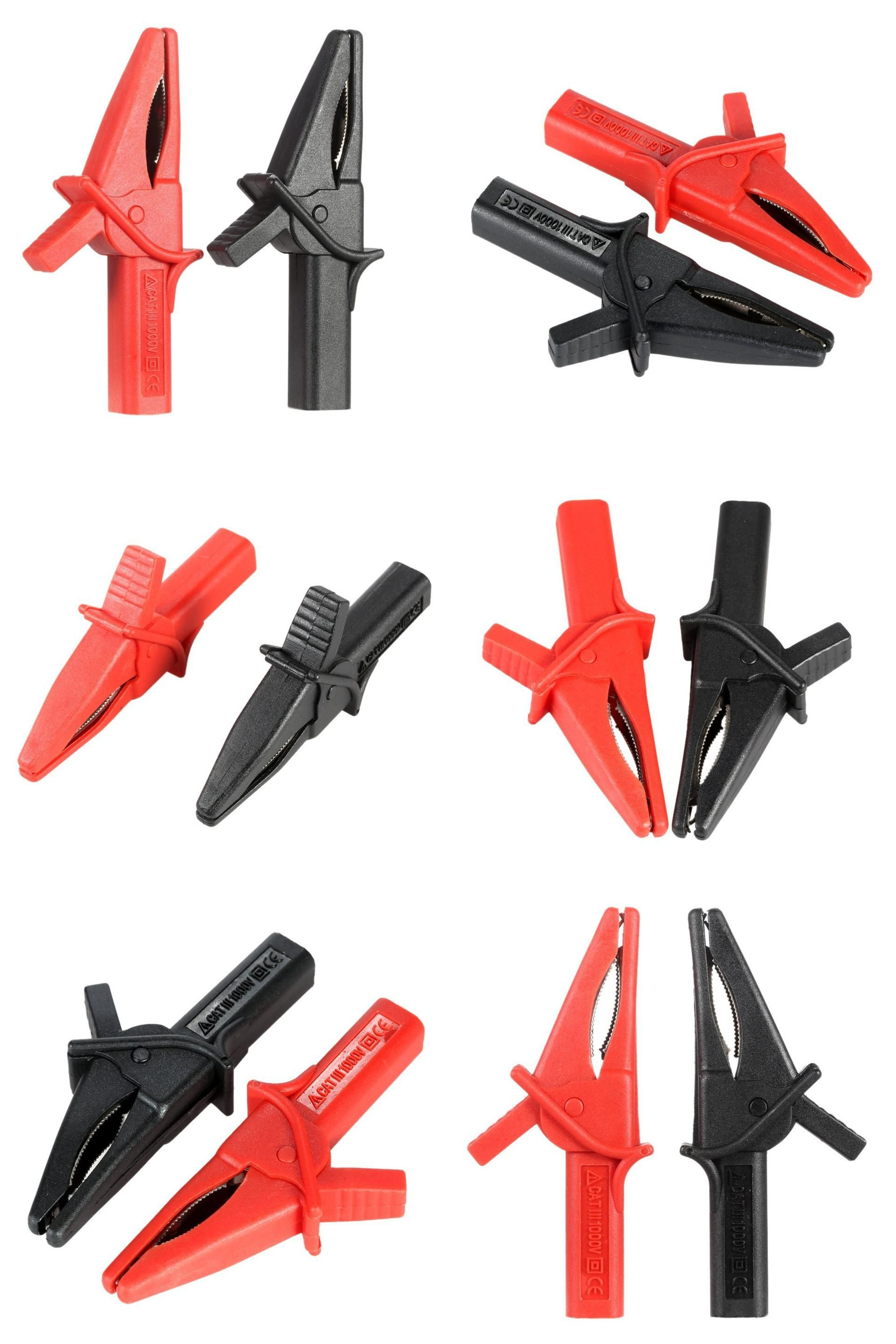 NEW Hantek HT18A fitting of DSO3064 2pcs Large Dolphin Gator Clips Red+Black