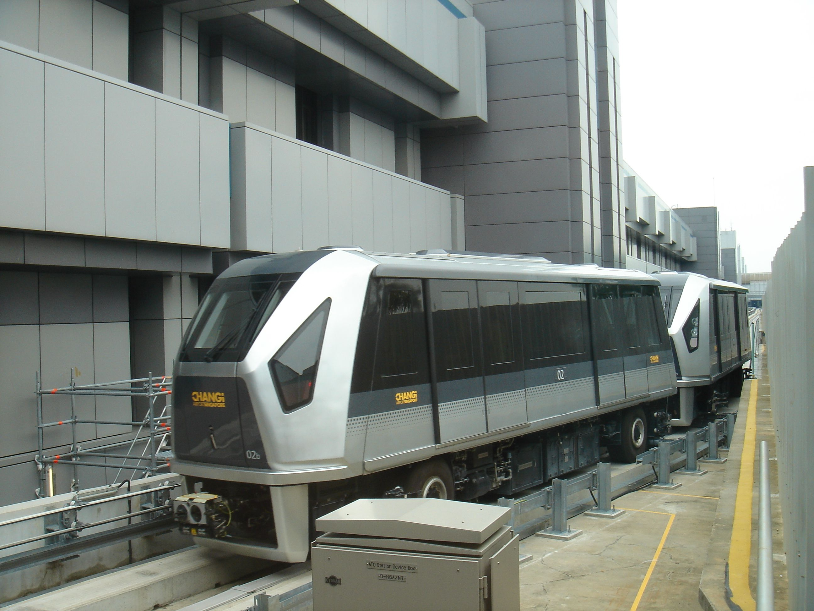 Mitsubishi Crystal Mover on the SkyTrain system at Changi Airport