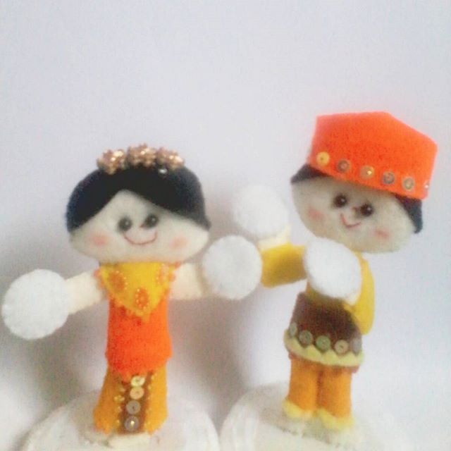 """putri bekhusek""  #feltcraft #plushie #felt #handmade #traditionaldance #craft #plushiedoll"