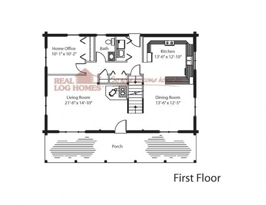 The Newport | Real Log Homes Floor Plan | Log Home Floor Plans ...