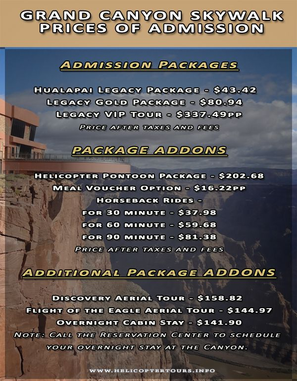 Grand Canyon Skywalk Prices Of Admission Grand Canyon