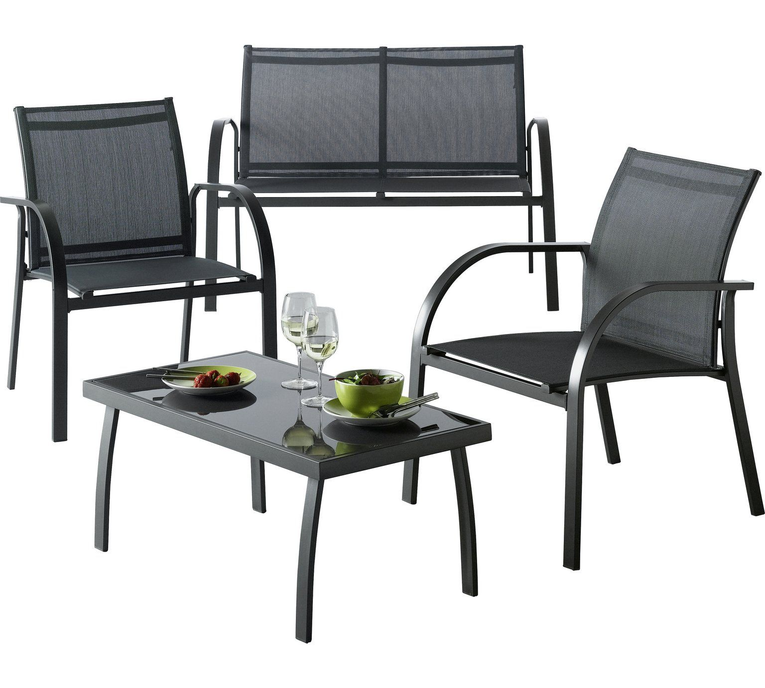 Buy Home Milan 4 Seater Metal Sofa Set At Argos Co Uk Your Online Shop For Limited Stock Home And Garden Limited Stock Clearance Sandalye - Garden Furniture Clearance Argos
