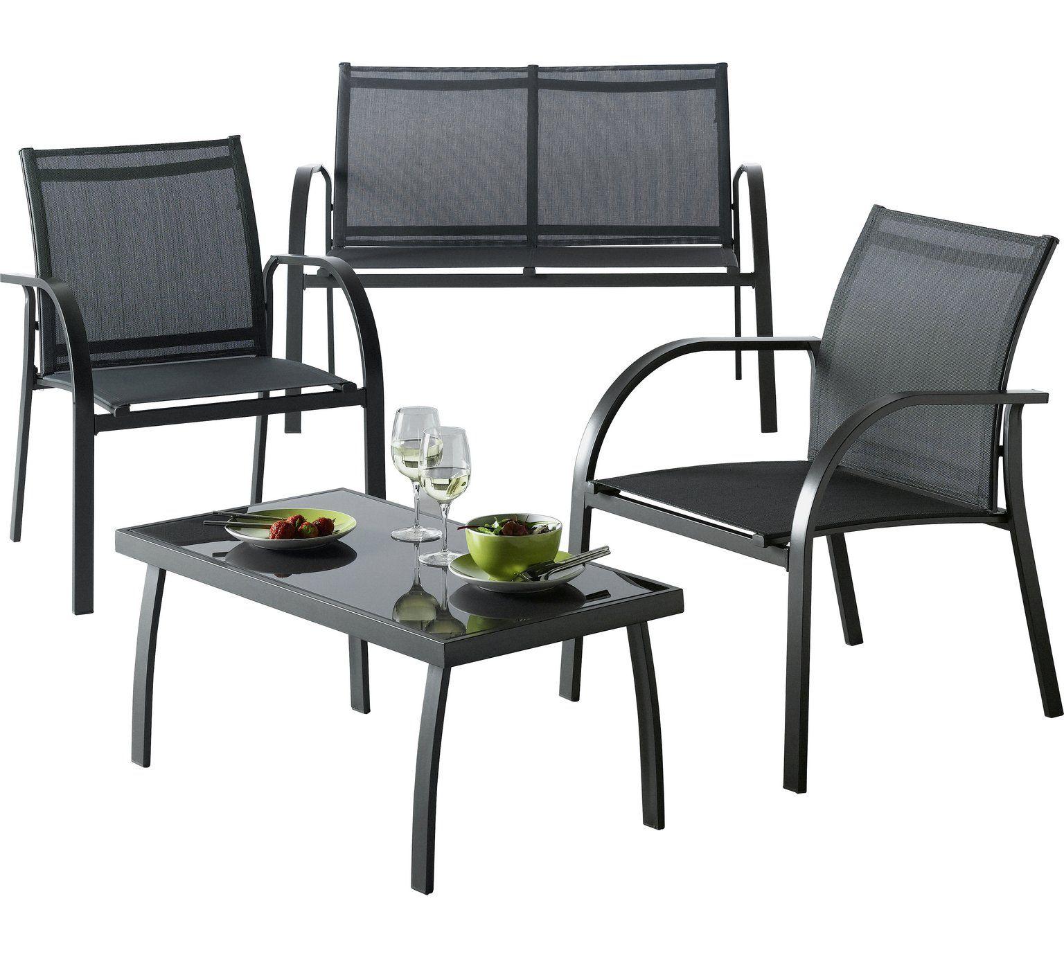 Buy HOME Milan 4 Seater Metal Sofa Set at Argos.co.uk