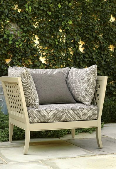 Exceptionnel Must Get This New Schumacher Indoor/outdoor Fabric For Kitchen Bench Seat  (if Not