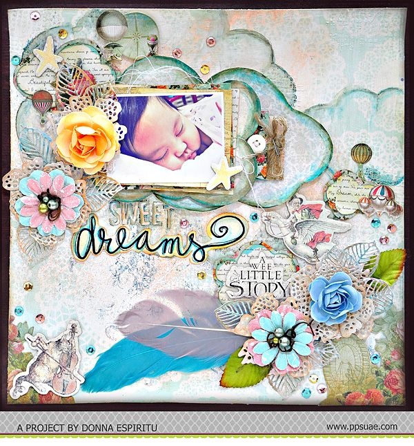 A layout by DT Member Donna Espiritu for Pretty Paper Studio's August Theme - Coloring