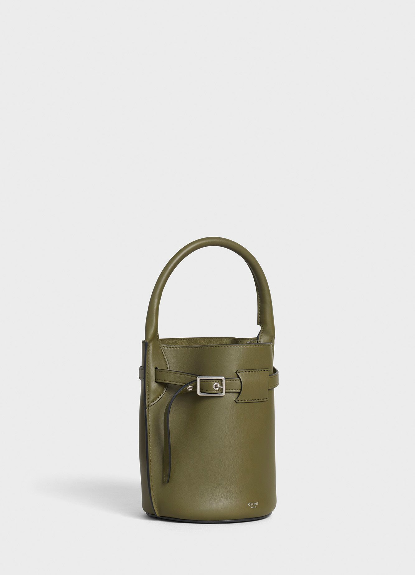 01d7b5331aaa5 Big Bag Nano Bucket in smooth calfskin - Army Green - Official website |  CELINE - Official website | CELINE