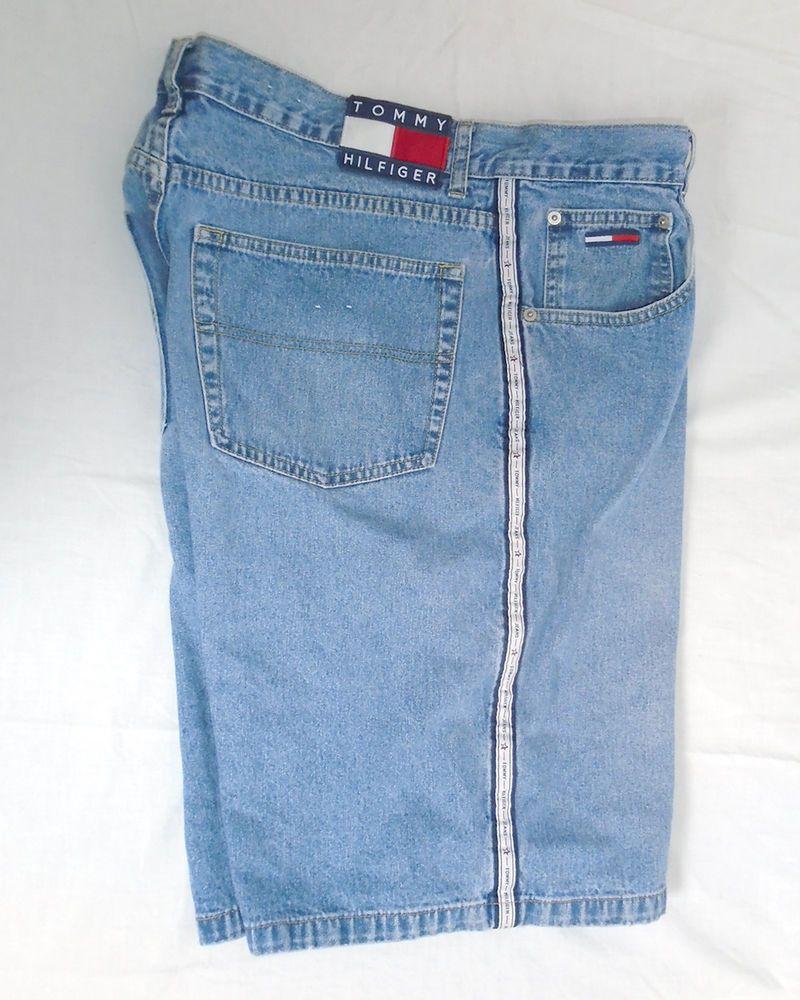 6c8470e2bb Tommy Hilfiger Jean Shorts 90's Denim Tommy Jeans Color Block Size 38 # TommyHilfiger #Denim