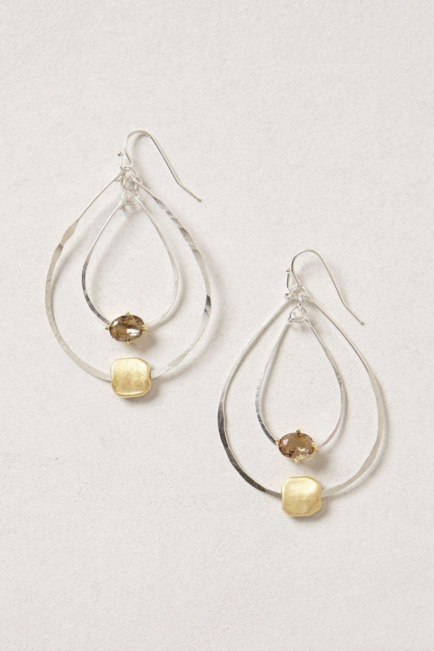 Double tear drop loop earrings Fairy Isle Hoops - Anthropologie.com