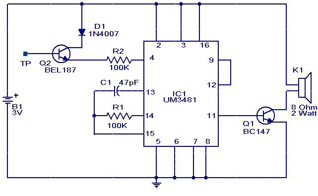 Touch Musical Bell Circuit With Images Circuit Electronics