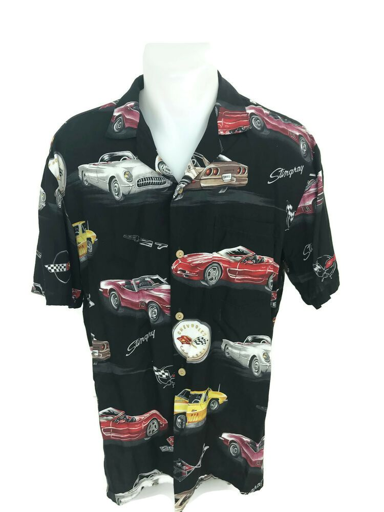 9ff4dd52 Paradise Found Men's GM General Motors Stingray Licensed Aloha Hawaiian  Shirt M #ParadiseFound #Hawaiian