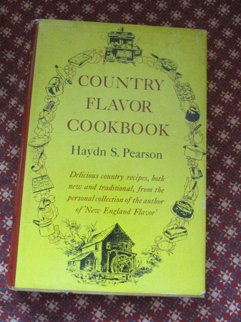 """Vintage Cook Book """"Country Flavor Cookbook"""" by H. Pearson by TheBookE on Etsy"""