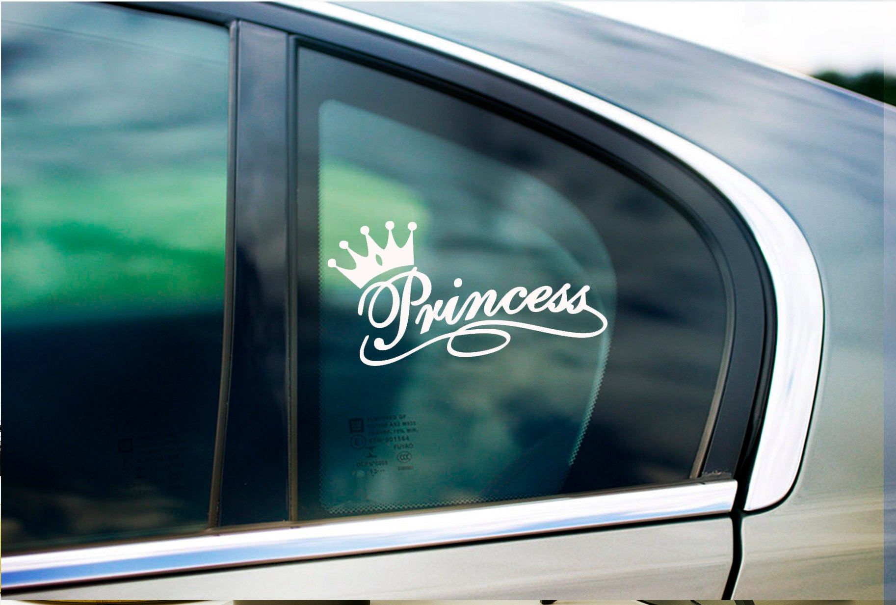Princess Crown Pink Princess Young Queen Decal Sticker Car Window Decal Wall Sticker Labtop Decal Vinyl Art In Custom Patches Wall Sticker Window Stickers [ 1233 x 1826 Pixel ]