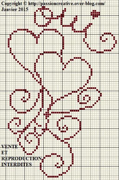 Grille gratuite point de croix coeurs arabesque oui le - Grilles points de croix gratuites ...