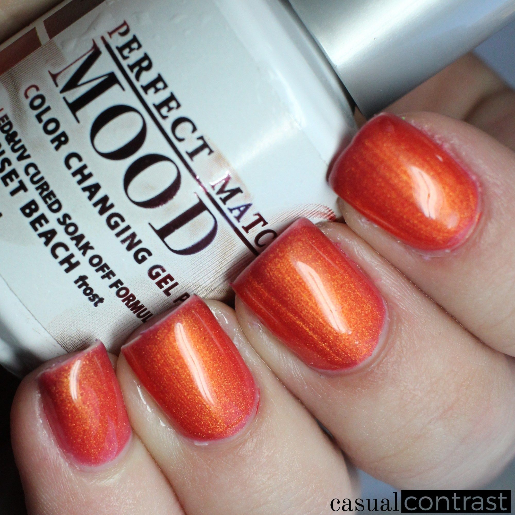 Lechat Sunset Beach Warm State Perfect Match Mood Color Changing Gel Polish Swatches
