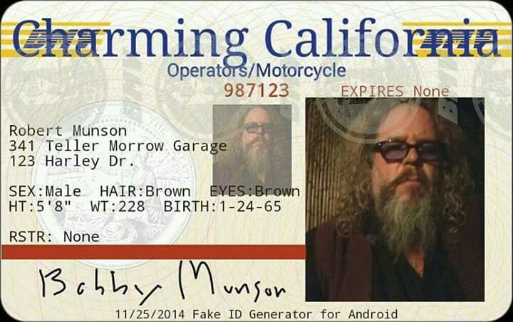 Driver's license | sons of anarchy | Sons of anarchy