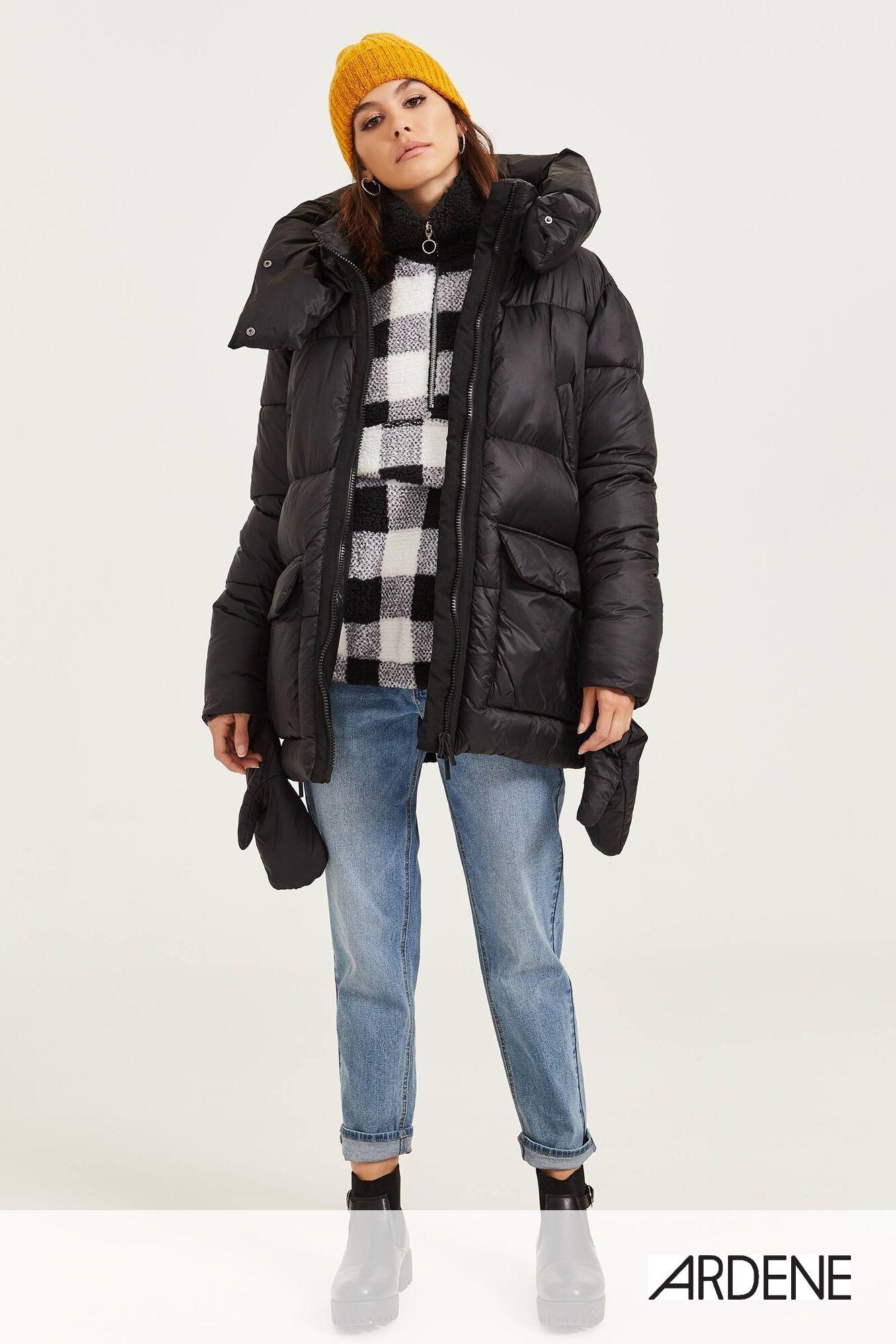 Oversized Puffer Jacket With Mittens Jackets Puffer Jackets Ardene [ 1999 x 1333 Pixel ]