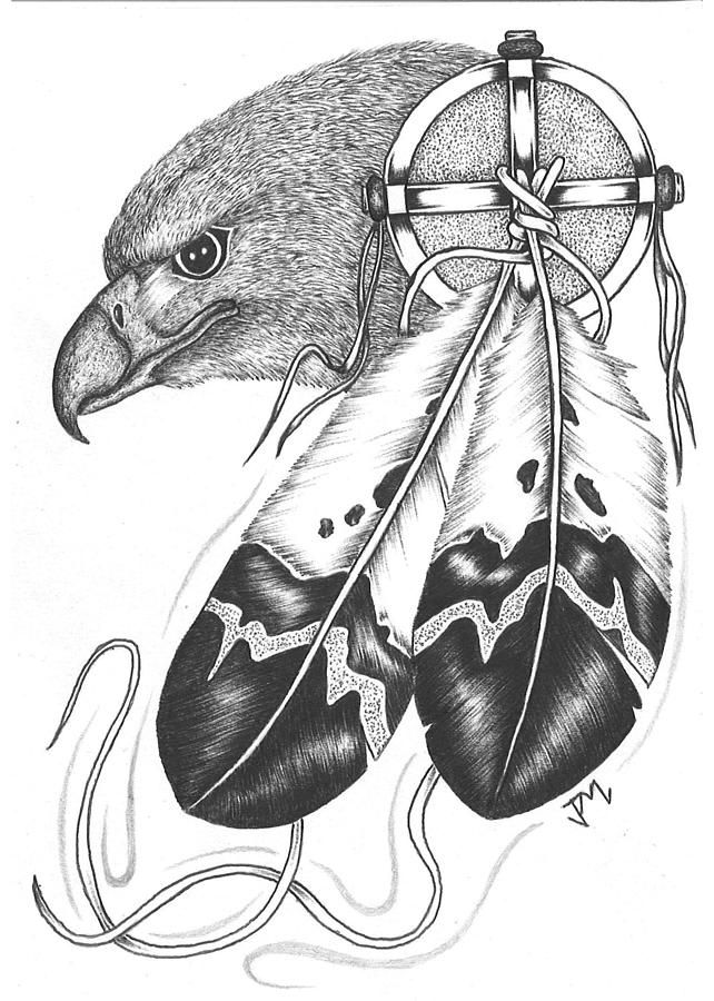 Animal Coloring Pages Dream Catchers Dreamcatcher Drawing Native - new eagles to coloring pages