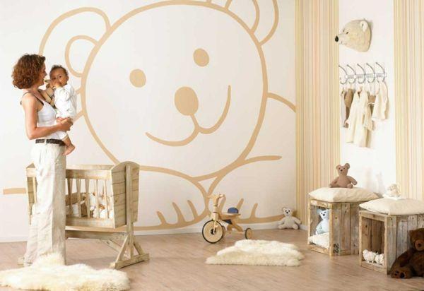 babyzimmer gestalten bär motive | rund ums kind | pinterest - Kinderzimmer Gestalten Ideen Motive