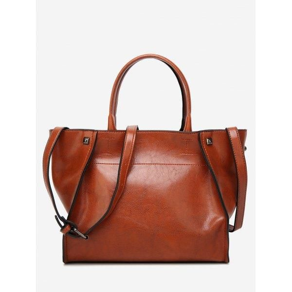 d5cd620578  RoseWholesale -  Rosewholesale Faux Leather Shoulder Bag - AdoreWe.com