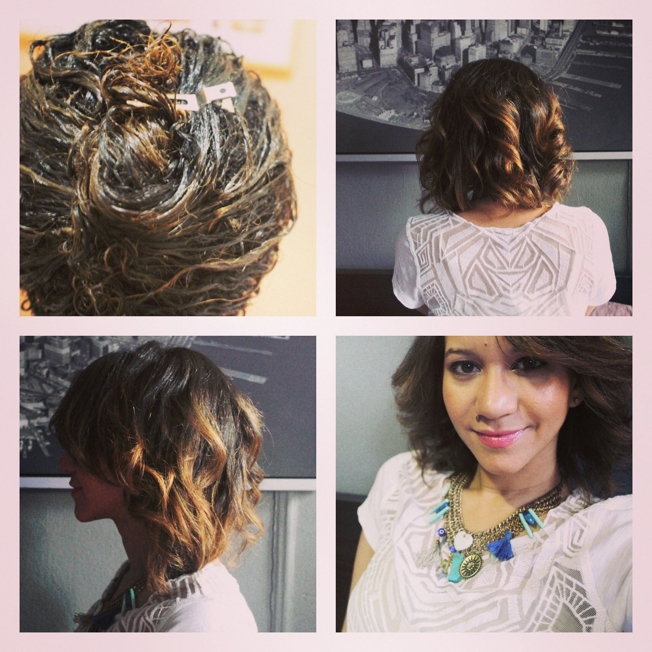 Soft Curls Results For Short Hair Using Morrocco Method Apple