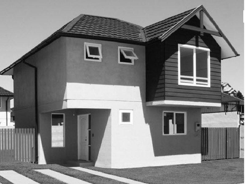 Plano de casa de dos pisos 80 m2 arquitectura for Planos de casas 80 mts2