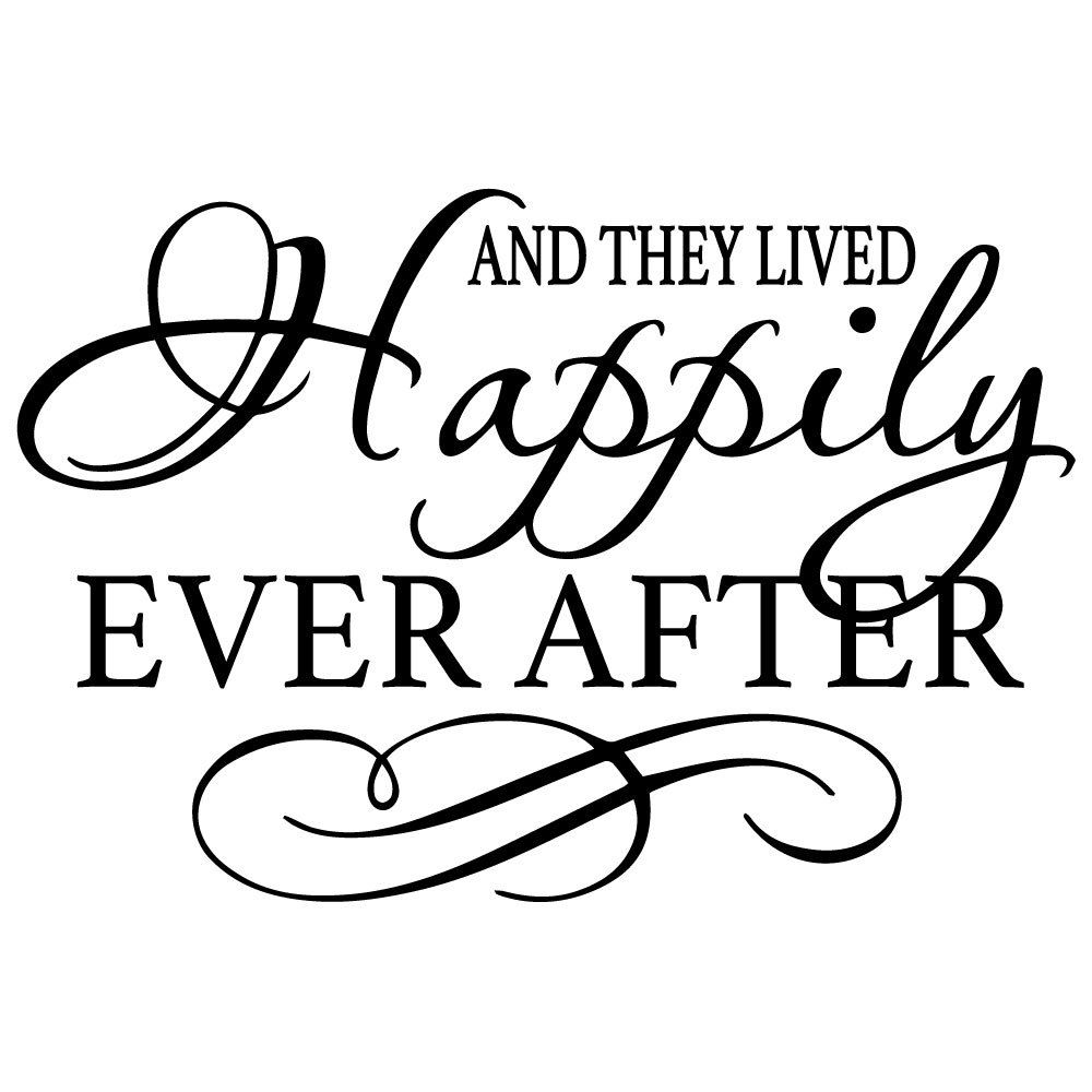 And They Lived Happily Ever After Wall Graphic FREE SHIPPING By - Custom vinyl decal application instructionsapplication etsy