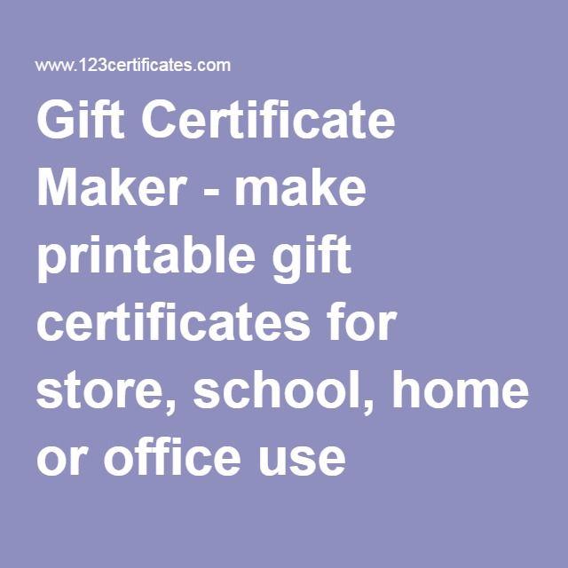 printable gift certificate maker