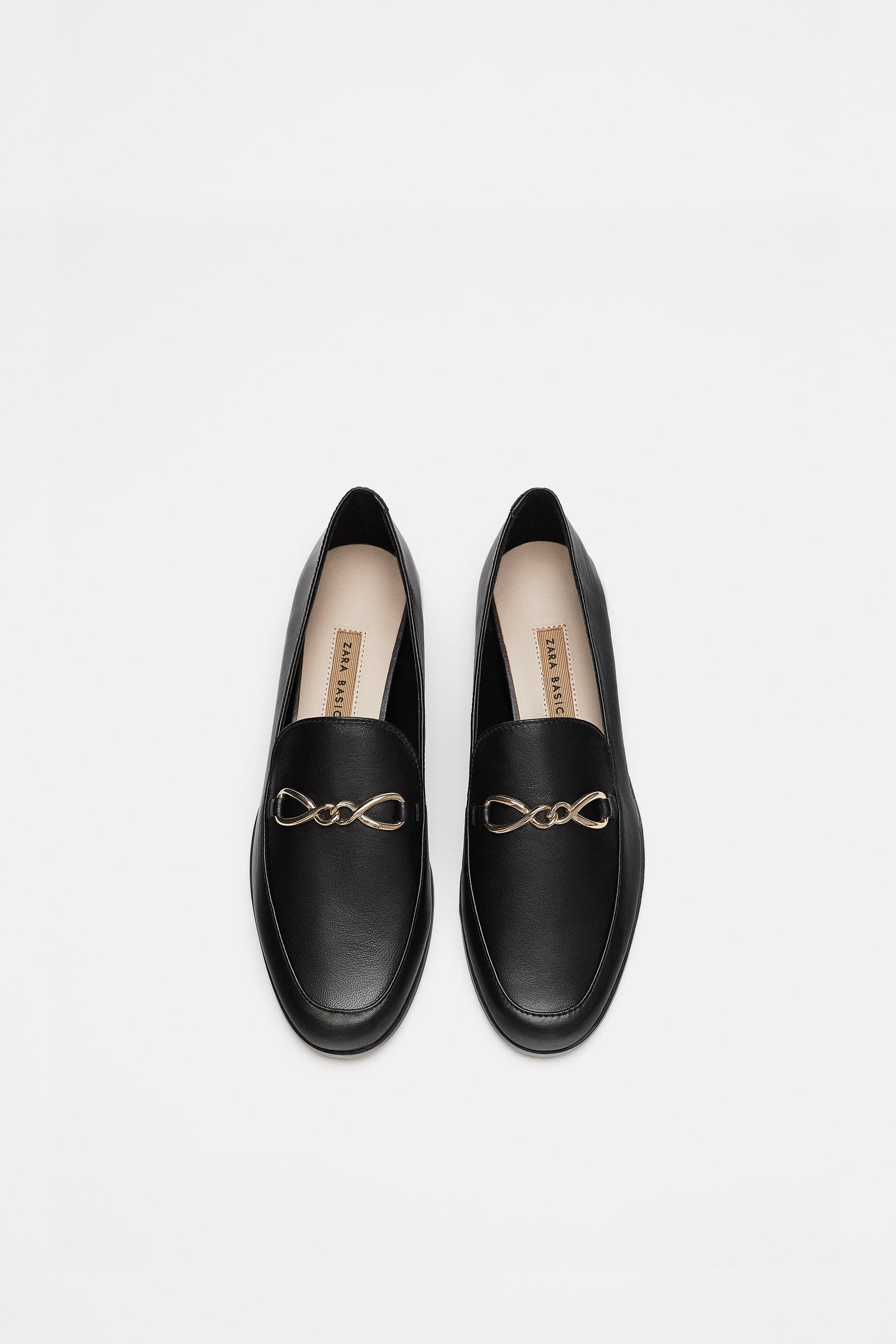 Image 4 Of Leather Loafers From Zara Latest Ladies Shoes Loafers Leather Shoes Woman