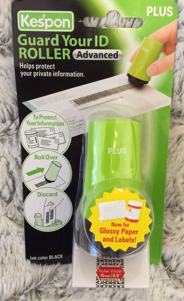 PLUS Kespon Guard Your Id Roller Stamp Green