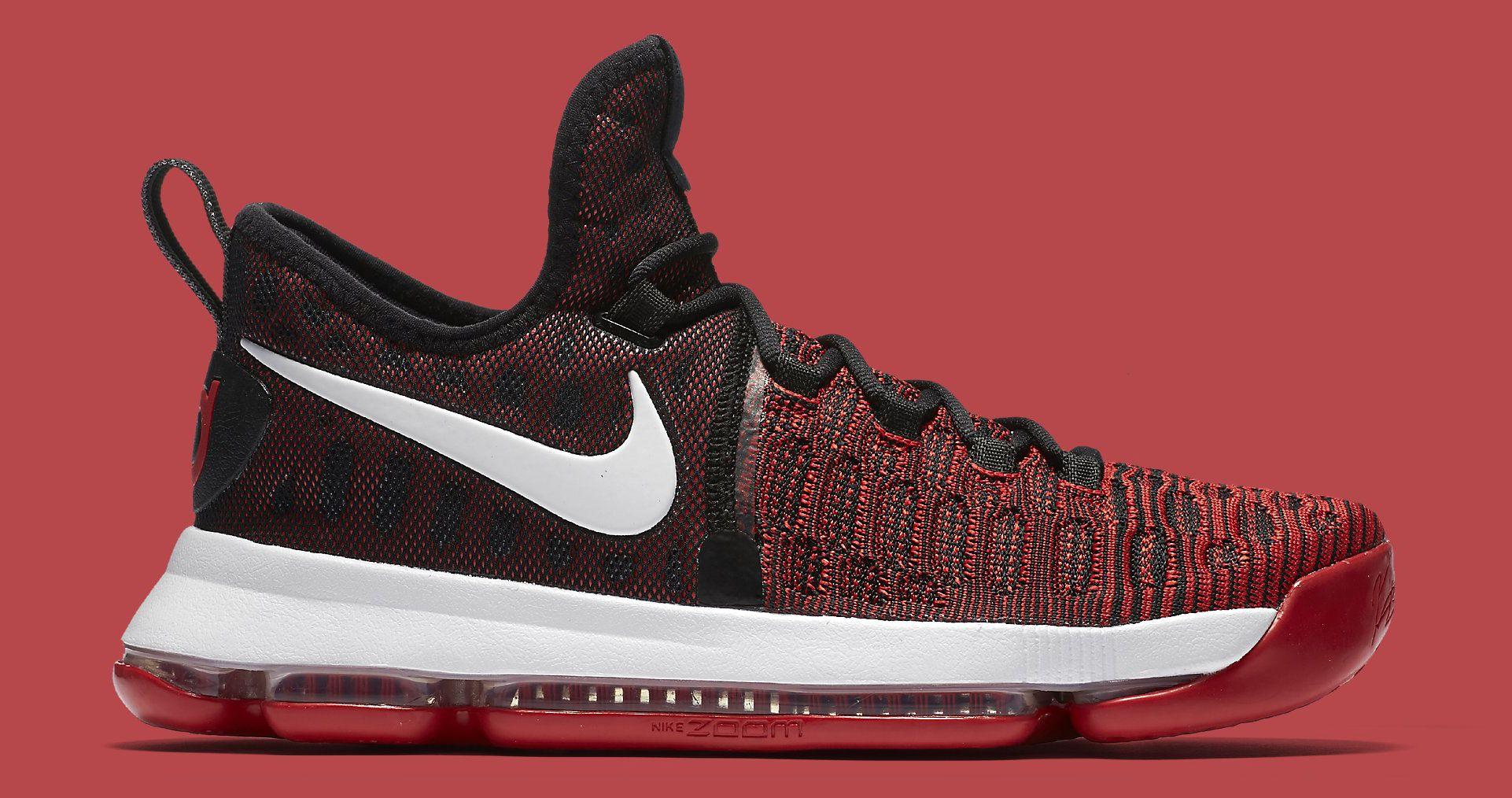 Best Nike Kd 9 University RedWhiteBlack Mens Basketball Shoes