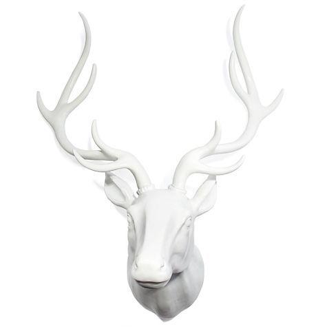 Deer Head White Laquer Z Gallerie