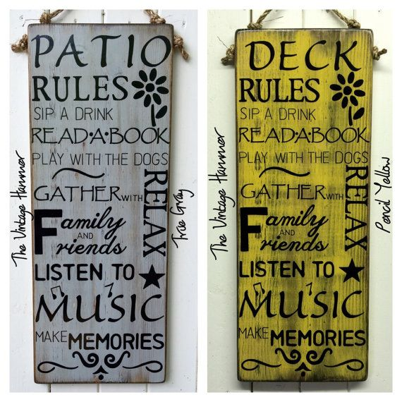 This Rules Sign Is 10x24 This Is Lumber Yard Measurement Actual Measurement Is 9 1 4x24 On 1 Inch Thi With Images Hand Painted Signs Porch Rules Sign Wood Signs Sayings